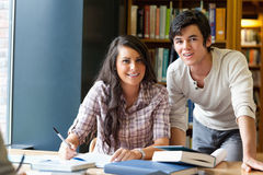 Good looking students posing Royalty Free Stock Images