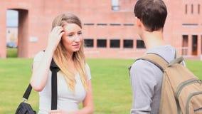 Good looking students talking stock video