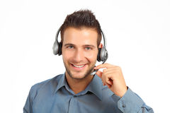 Good looking support technician Royalty Free Stock Photo