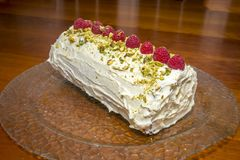 Pistachio Roulaade is a good dessert Royalty Free Stock Photography