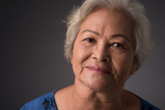 Good-looking woman. Close-up of a senior woman Stock Photography