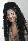 Smiling Rasta Woman Stock Photography