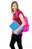 Good looking young girl leaving for college Stock Photos