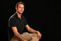 Good Looking Young Man in Studio Royalty Free Stock Photo