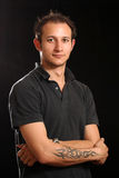 Good Looking Young Man in Studio Royalty Free Stock Image