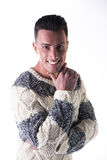Good looking young man with winter sweater Stock Photo