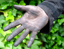 Good luck!. Chimney sweeper's hand Stock Photos