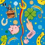 Good luck. Set of items bearing good luck. Similar background vector illustration
