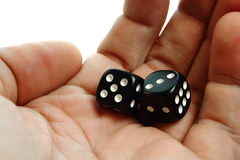 Two dices Royalty Free Stock Photos