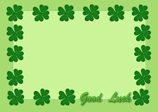 Good luck. Green leaf clover for good luck Royalty Free Stock Photography