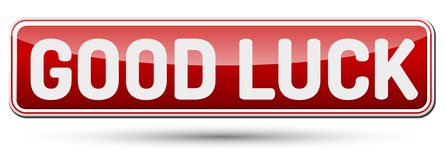 GOOD LUCK - Abstract beautiful button with text. Royalty Free Stock Photos