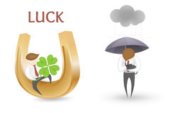 Good luck bad luck Stock Photos