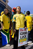 Good Luck Bafana Bafana. Football frenzy at Bafana celebration Royalty Free Stock Image