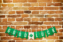 GOOD LUCK banner lettering Royalty Free Stock Photo