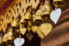 Good Luck Bells with Hearts. Stock Image