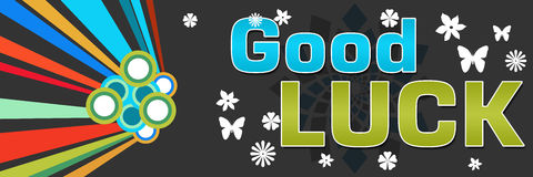 Good Luck Black Abstract Colorful Banner Royalty Free Stock Images