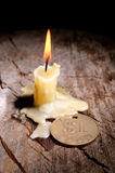 Good luck and candle Stock Photos
