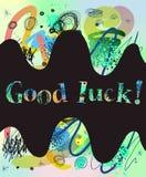 Good luck card Stock Image