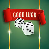Good luck, casino background wit dice Stock Photography
