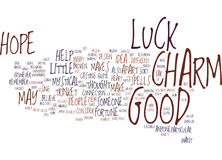 Good Luck Charm Word Cloud Concept Stock Image