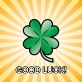 Good luck clover - vector Stock Photography