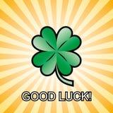 Good luck clover - vector Stock Photography