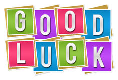 Good Luck Colorful Blocks Stock Images