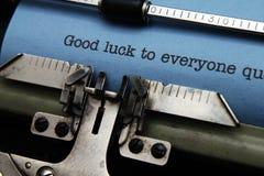 Good luck everyone. Close up of Good luck everyone Stock Photos
