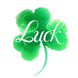 Good luck four leaf clover. Stock Images