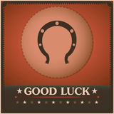 Good Luck Horseshoe Vintage poster. Illustration Stock Images