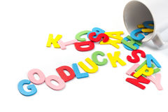 Good luck letters Royalty Free Stock Photos