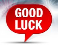 Good Luck Red Bubble Background royalty free illustration