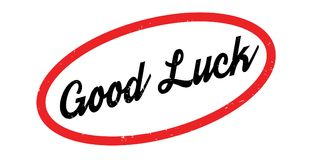 Good Luck rubber stamp Royalty Free Stock Photos