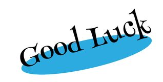 Good Luck rubber stamp Stock Photography