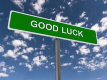 Good luck sign Royalty Free Stock Photos