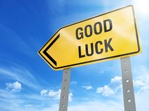 Good luck sign stock illustration
