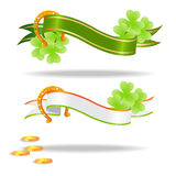 Good luck or st. Patrick's day banners Stock Image