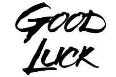 Good Luck stamp typographic stamp. Good Luck stamp. Typographic sign, stamp or logo Stock Images