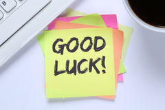 Good luck success successful test wish wishing office desk Royalty Free Stock Photos