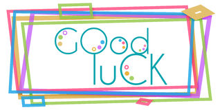 Good Luck Text Colorful Frame Royalty Free Stock Photos