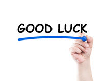 Good luck text underlined Stock Photo