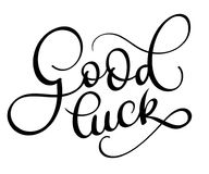 Good luck text on white background. Hand drawn Calligraphy lettering Vector illustration EPS10 Royalty Free Stock Photography