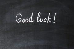 Good luck - text written Royalty Free Stock Photos