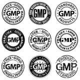 Good manufacturing practicezegel Royalty-vrije Stock Foto