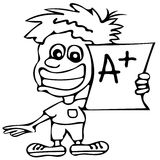 Good mark A+ coloring pages Stock Images