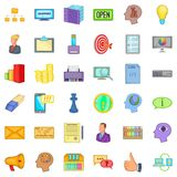 Good marketing icons set, cartoon style Royalty Free Stock Photos