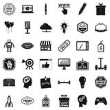 Good marketing icons set, simple style Royalty Free Stock Photo