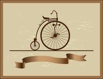 Good memory of his grandfather bike Royalty Free Stock Photo