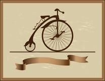 Good memory of his grandfather bike Stock Images
