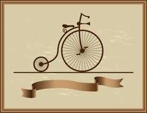 Good memory of his grandfather bike Stock Photography